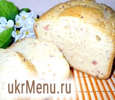 Хліб з кукурудзяним борошном і шинкою