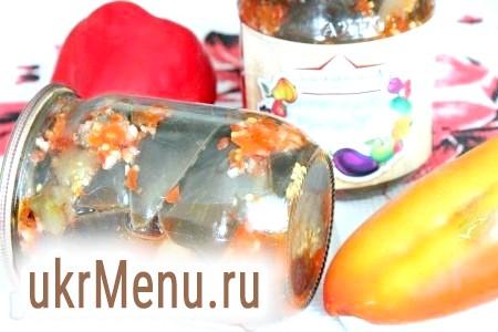 Гострий салат з баклажанів на зиму