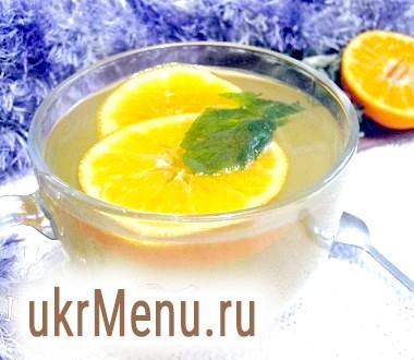 Пряний м'ятно-мандариновий чай