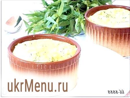 Рецепт сирного суфле
