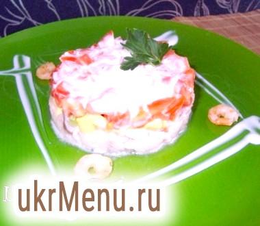Салат з оселедця з авокадо і томатом