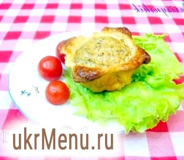 Суфле в горщику з листкового тіста