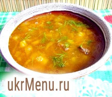 Суп з червоною сочевицею