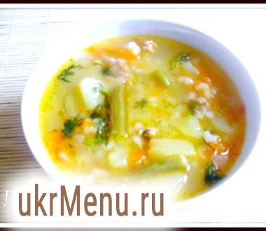 Суп з рисом і стручкової квасолею