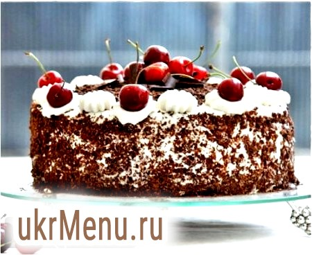 Торт вишня в шоколаді