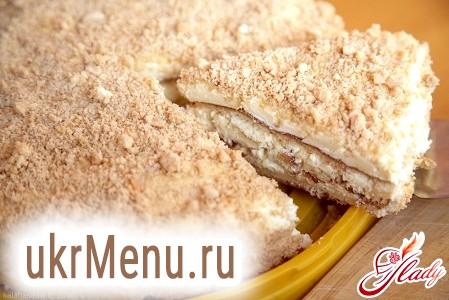 Бісквітний торт «Сніжок»