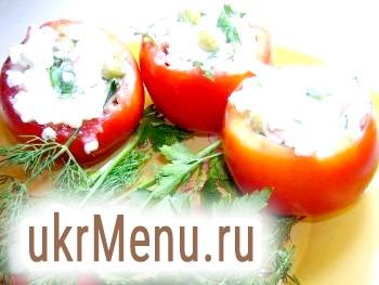 Фаршировані помідори з крабовим салатом