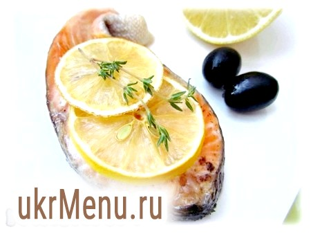 Форель, запечена з лимоном