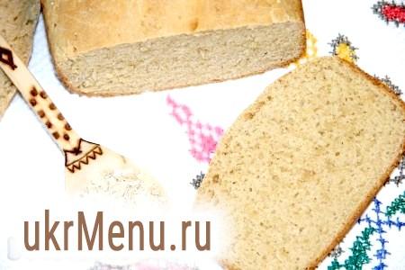 Хліб з вівсяної муки в хлібопічці