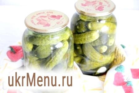 Хрусткі мариновані огірки на зиму