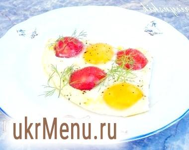 Фото - Яєчня з помідорами