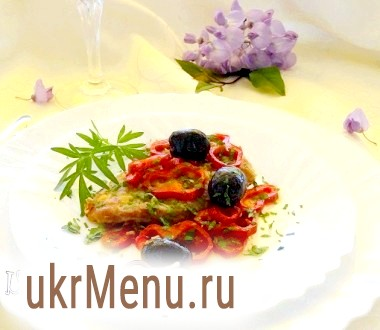 Ескалопи з перцем і маслинами