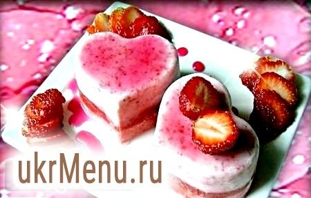 Фото - Полуничне морозиво «Серце» на 14 лютого