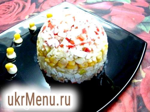Кращі салати з крабових паличок на свято - рецепти з фото і відео