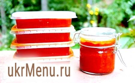 Рецепт томатної пасти на зиму