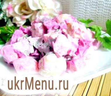 Салат з оселедцем і молодою картоплею