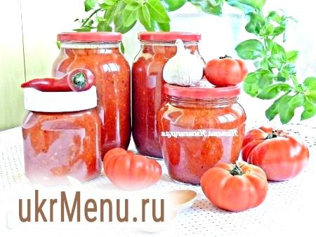 Соус з помідорів і перцю на зиму