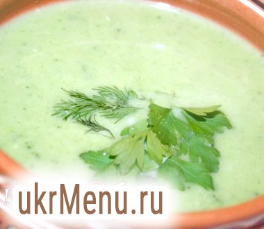 Суп-пюре з брокколі з плавленим сиром