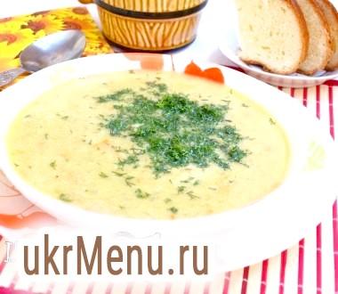 Суп-пюре з куркою і горошком