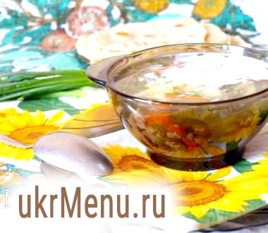 Суп з яйцем і стручкової квасолею
