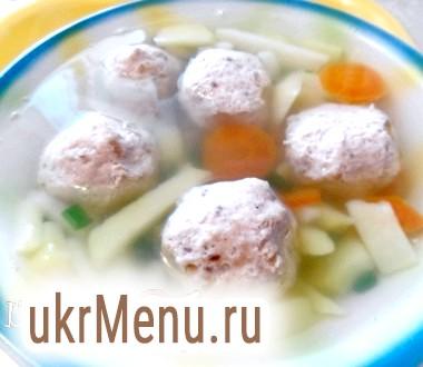 Суп з рибними тюфтельками