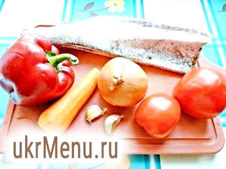 Фото - Інгредієнти для приготування тушкованого хека з овочами